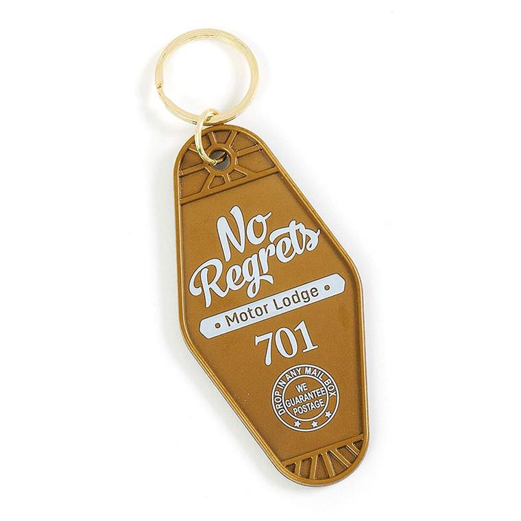 No Regrets Vintage Motel Key Ring