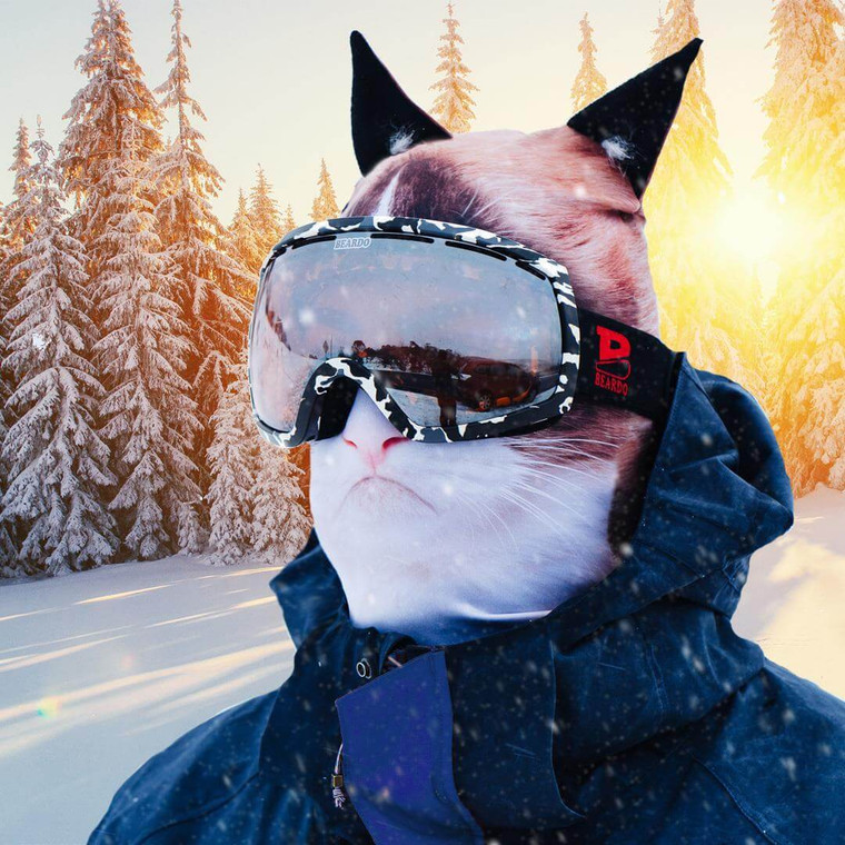 HELL- NO KITTY  WINTER SNOW MASK