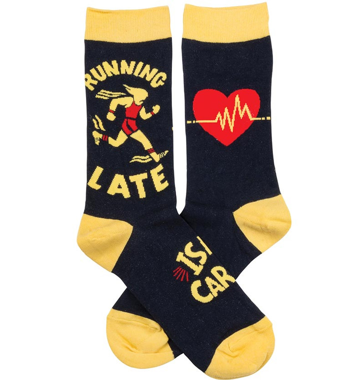 Running Late Is My Cardio Socks