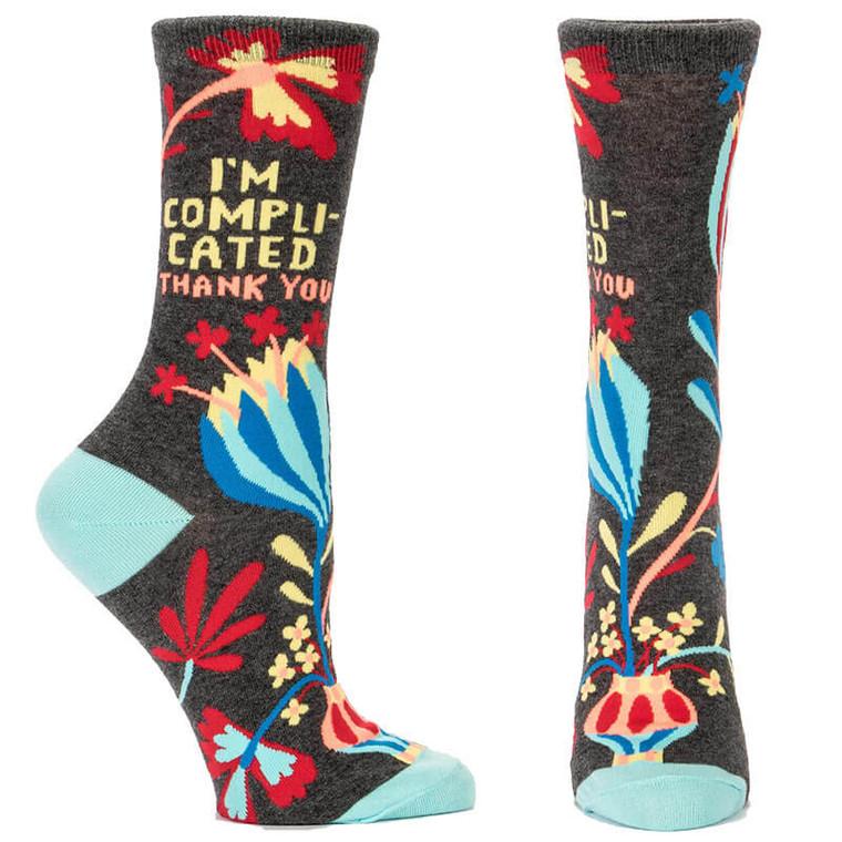 I'm Complicated. Crew Socks