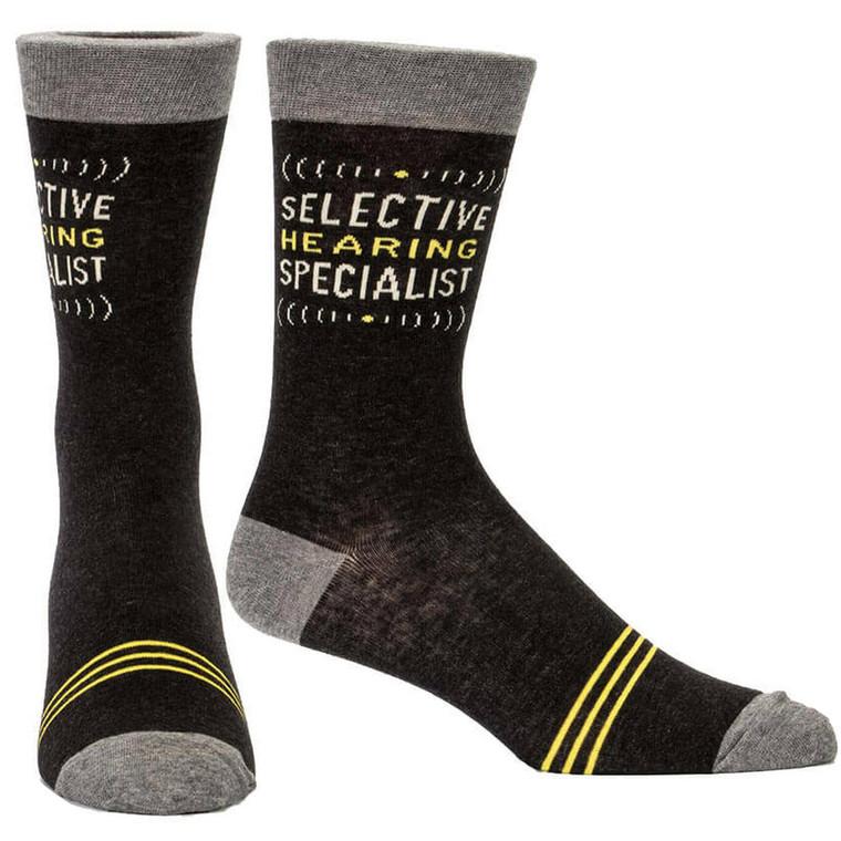 Selective Hearing Specialist  Men's Blue Q Socks