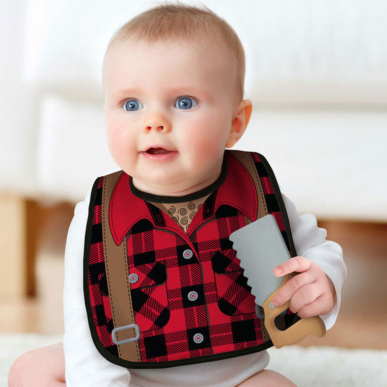 Funny Baby Bib and Chew Toy