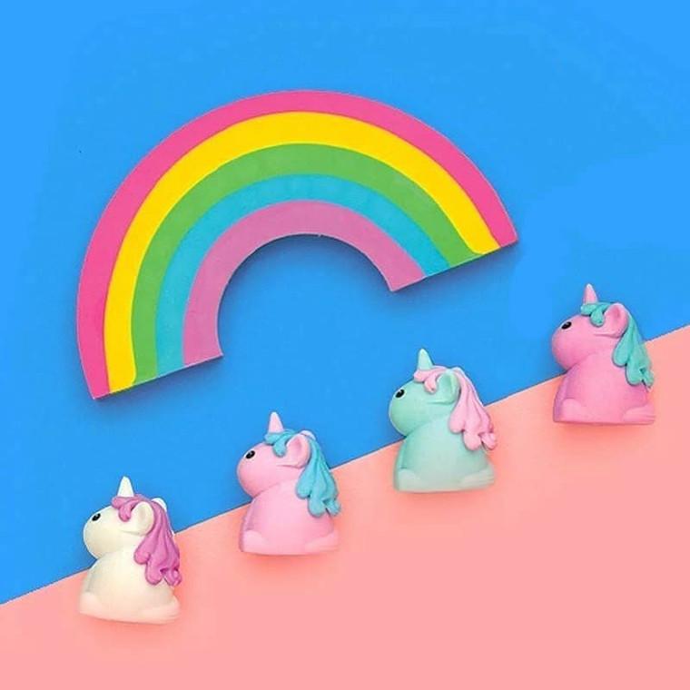 Unicorn + Rainbow Scented Eraser Set