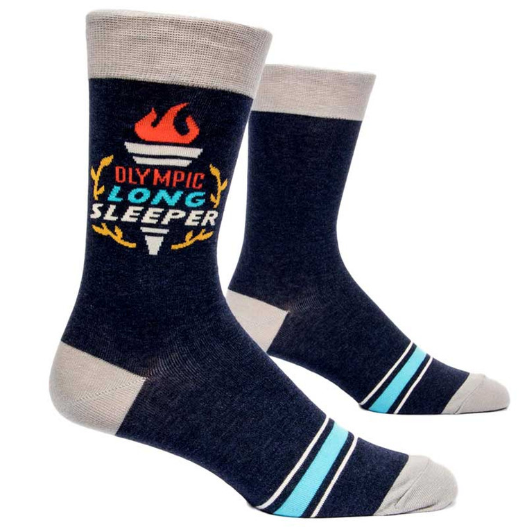 Blue Q Olympic Long Sleeper Men's Crew Socks
