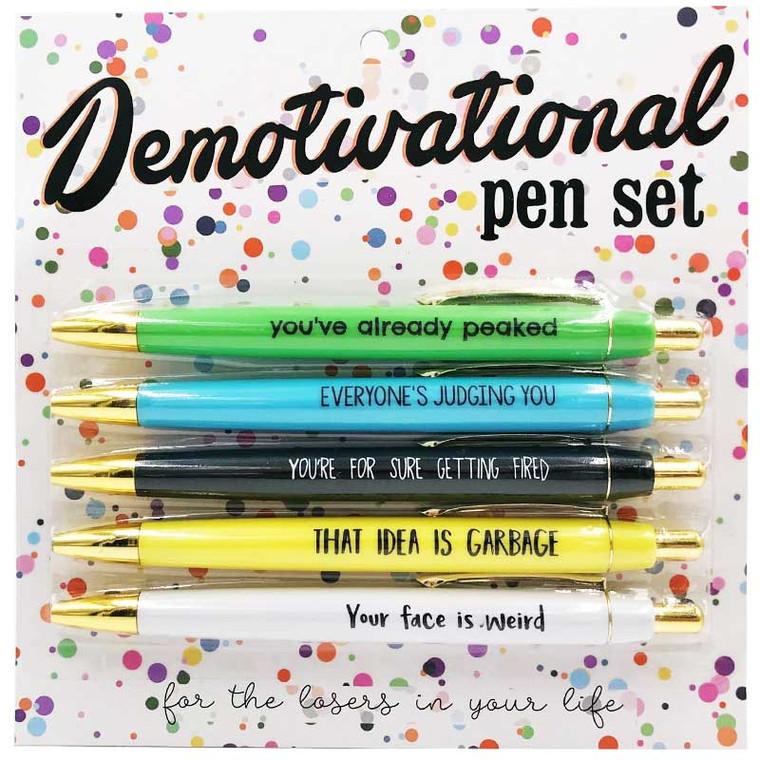 Work Demotivational Pen Set