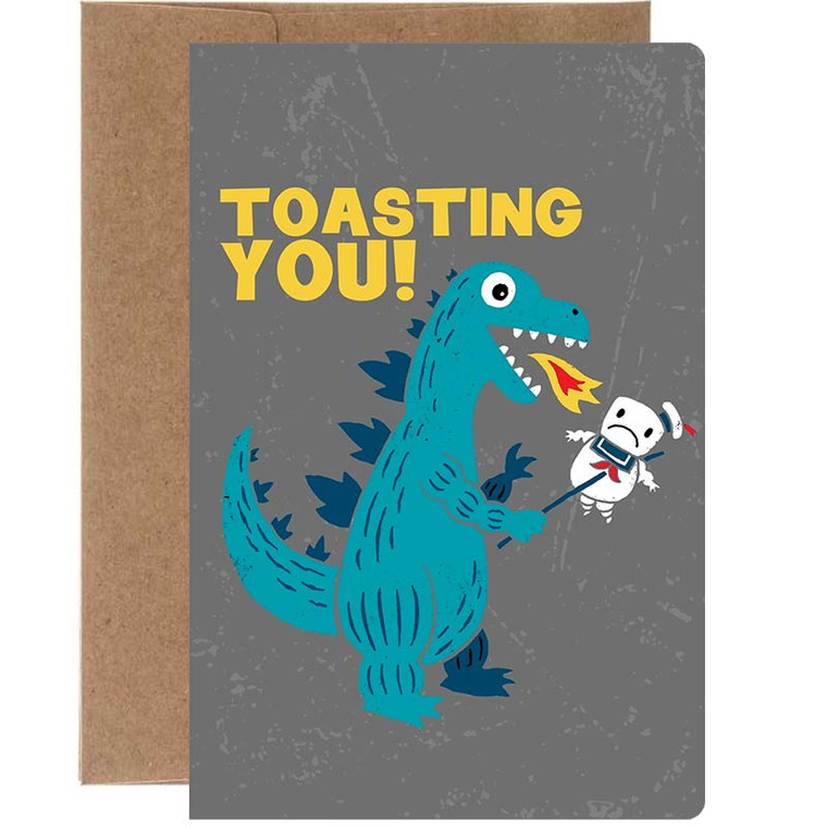 Toasting You! Ghostbuster's Marshmallow Congratulations Greeting Card