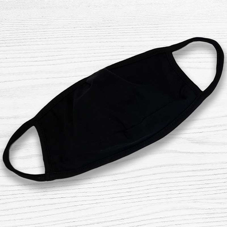 Dude Approved Soft Touch Black Face Mask