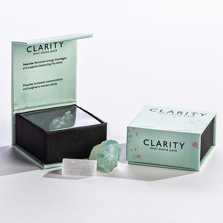 Clarity Mini Selenite + Fluorite Crystal Gift Set | Purchase