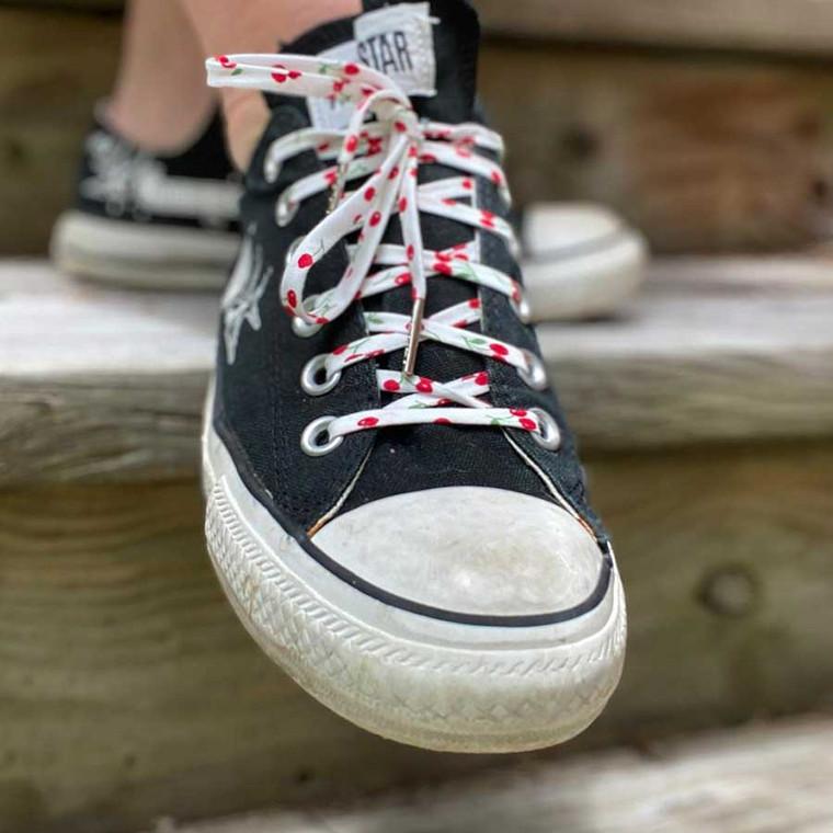 Retro Cherry Shoelaces