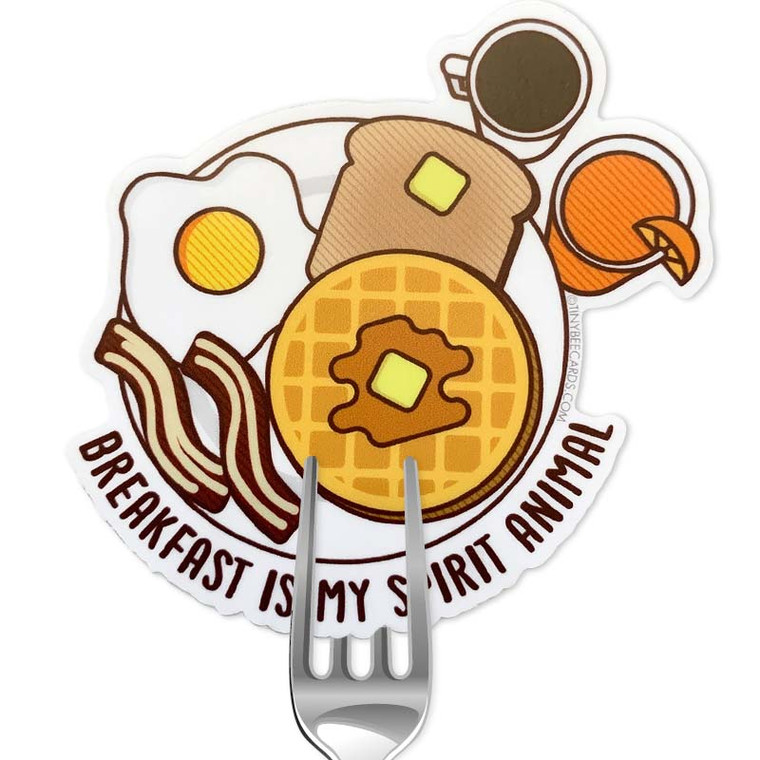 Breakfast Is My Spirit Animal Sticker