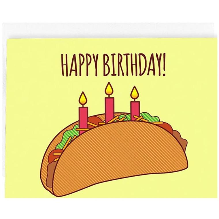 Happy Birthday Taco Card