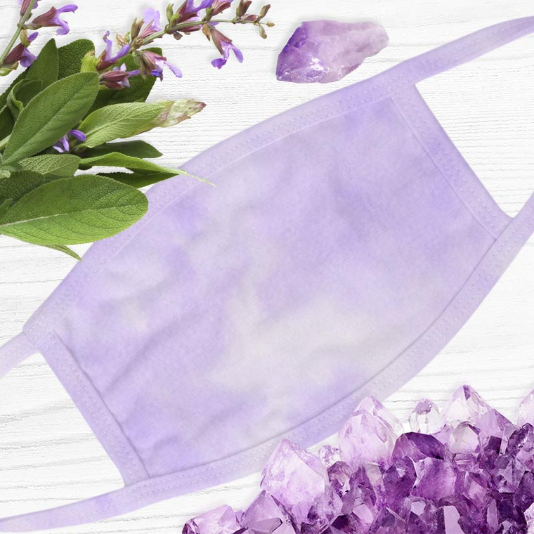 Amethyst Crystal Soft Touch Face Mask + Stone