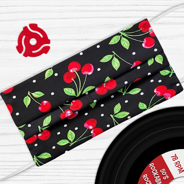 Totally Cherry Rockabilly Face Mask