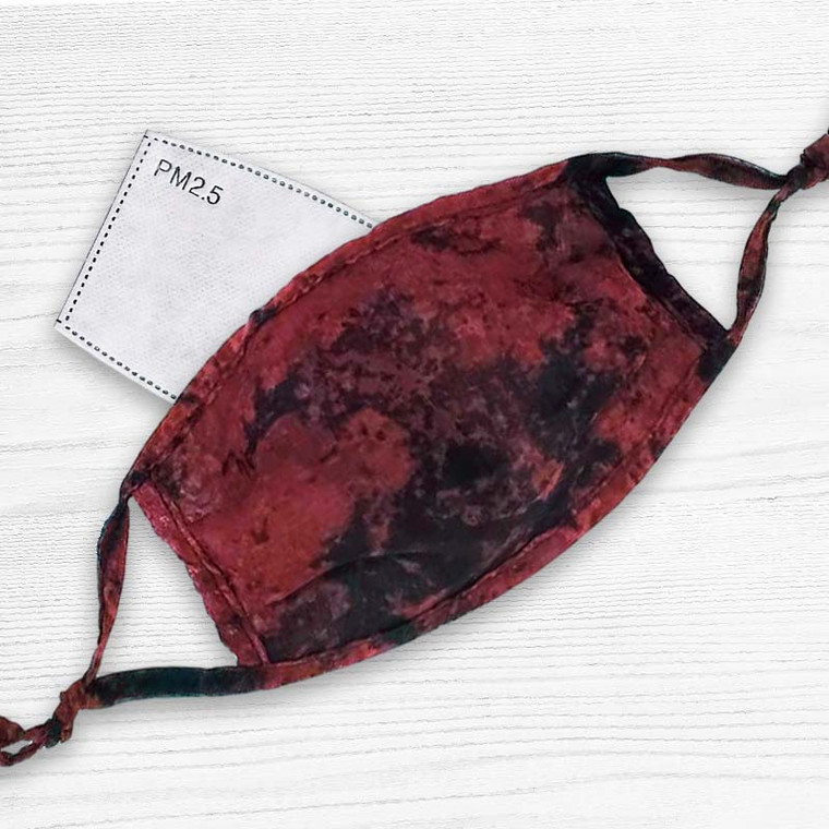 Ultra Thin Grunge Style Face Mask with Filter Pocket