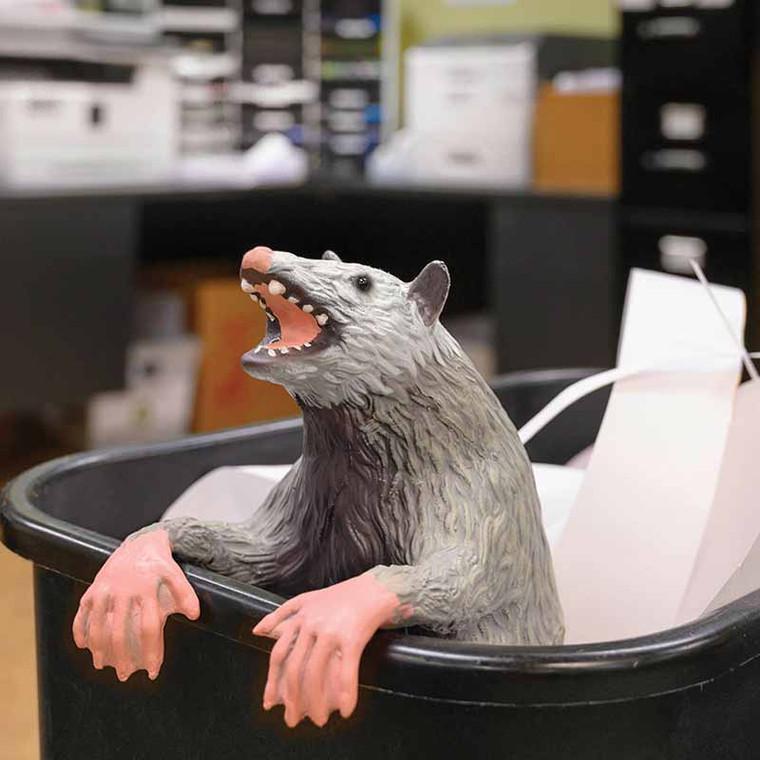 Office Possum Prank  - Trash