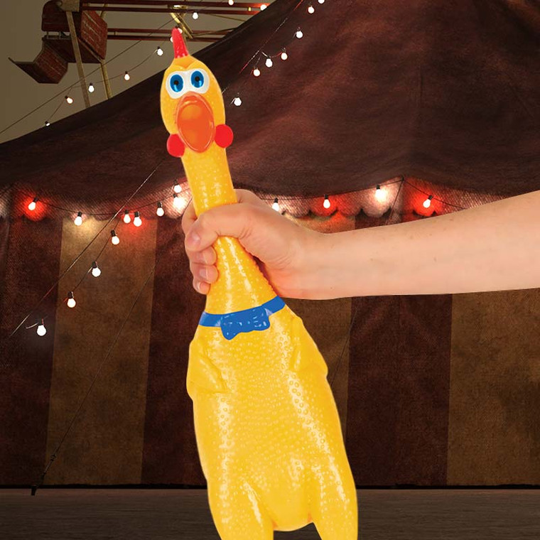 Biggest + Loudest Rubber Chicken by Archie Mcphee