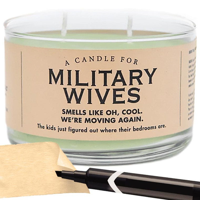 Military Wives Gift Candle