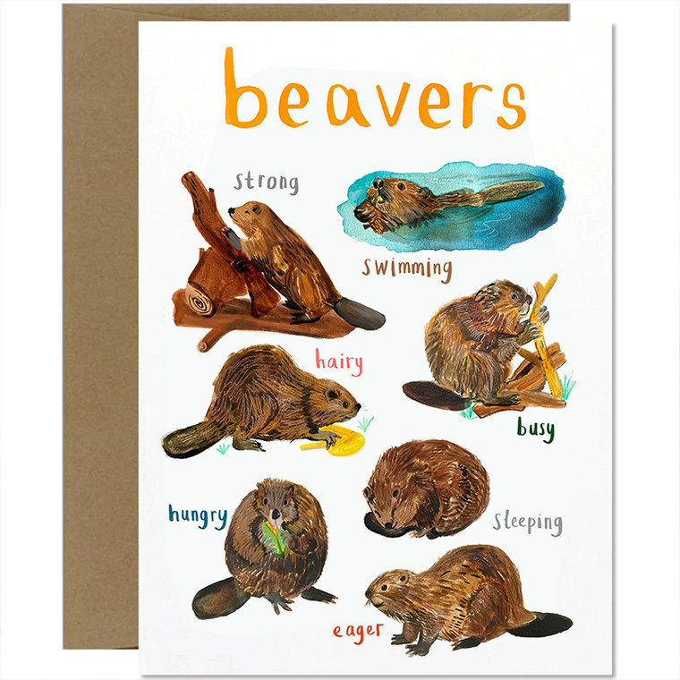 Beavers Greeting Card