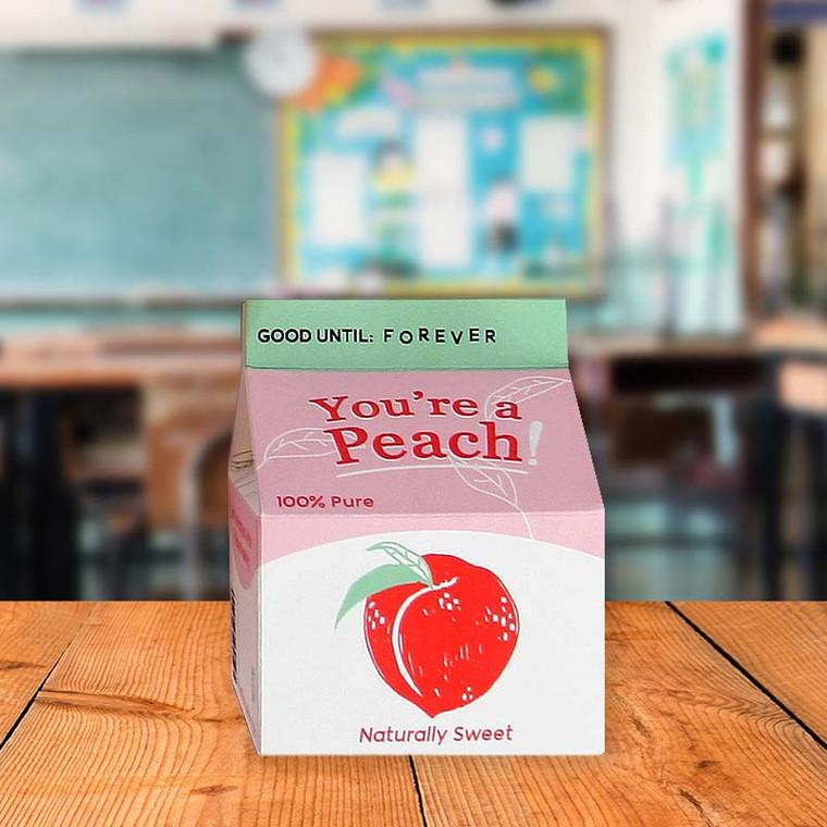 You're A Peach 3D Juice Box Greeting Card