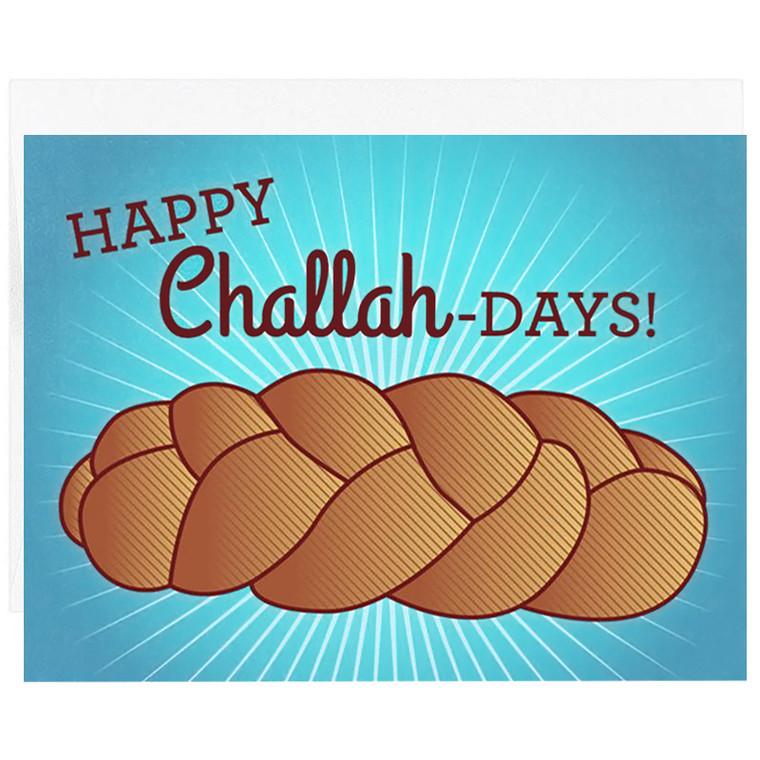 Happy Challah Days Hanukkah Card