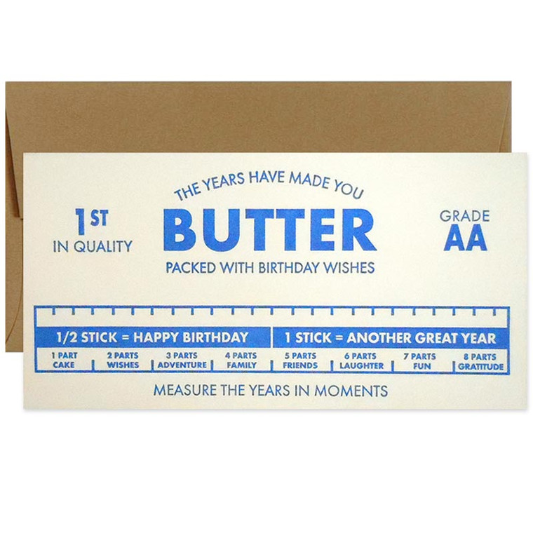The Years Have Made You Butter Birthday Card