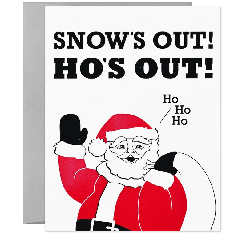 Fun Christmas Pun Holiday Greeting Card
