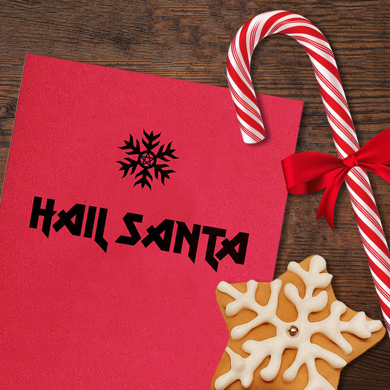 Christmas Card - Hail Santa