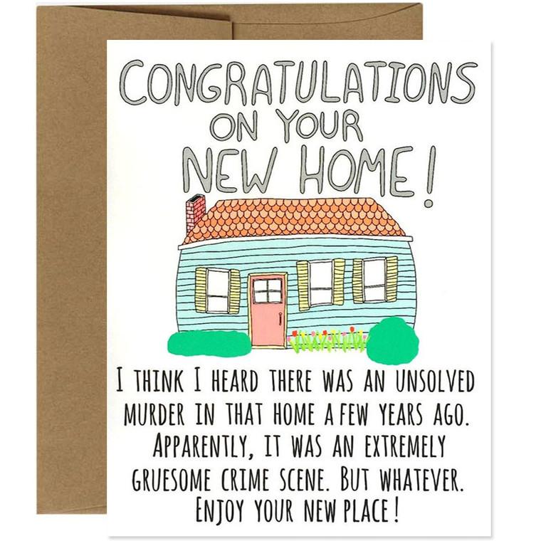 Congratulations On Your Murder Home Housewarming Card