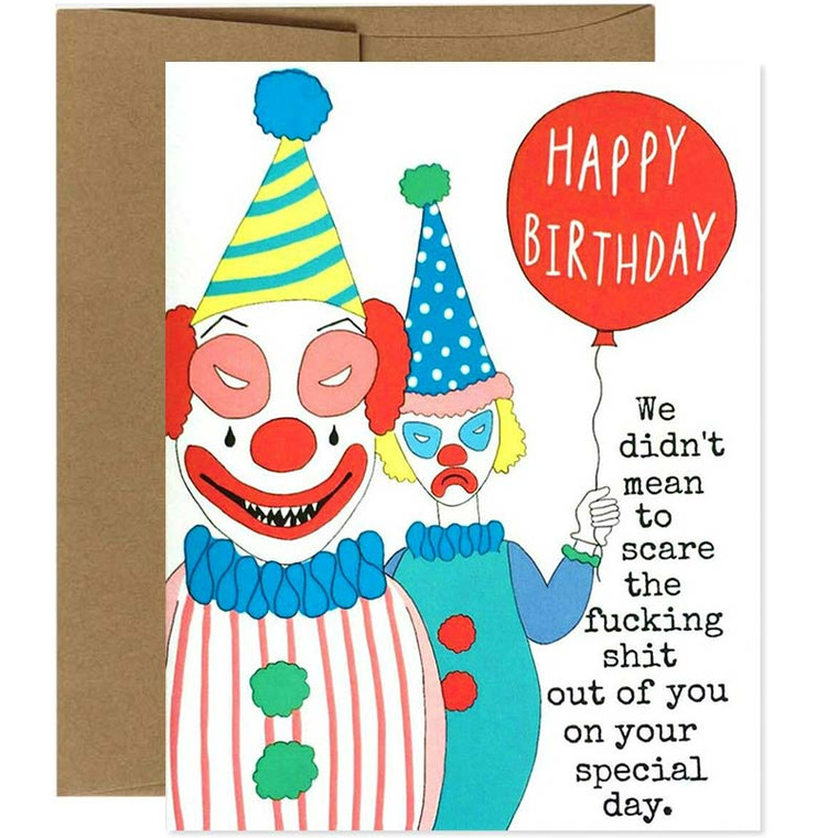 Funny but f*cking scary birthday clowns!