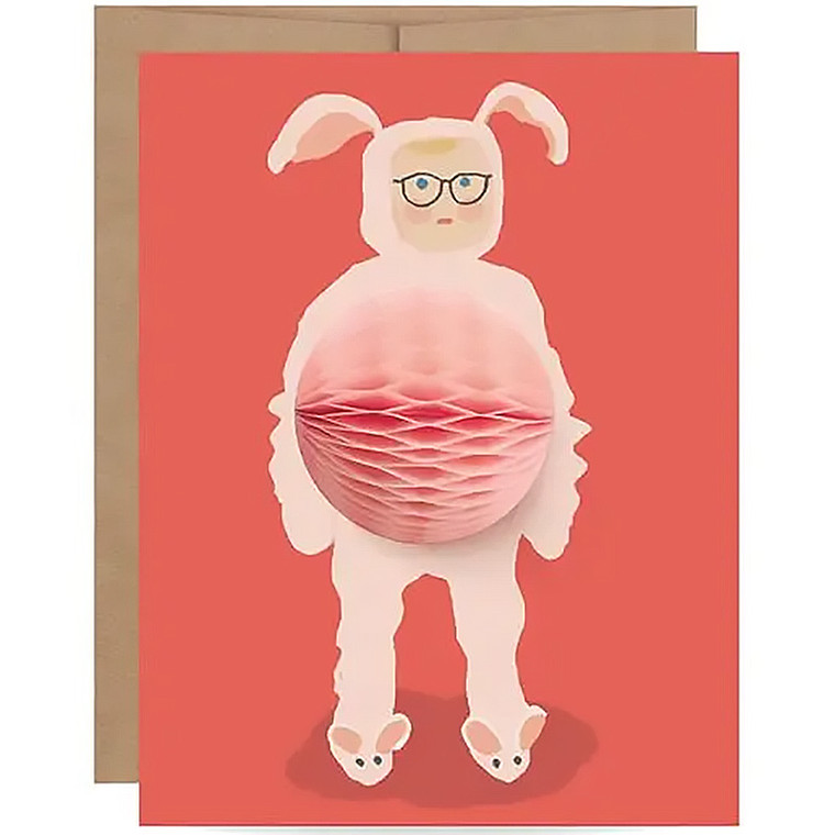 Funny Bunny Suit Christmas Story Card