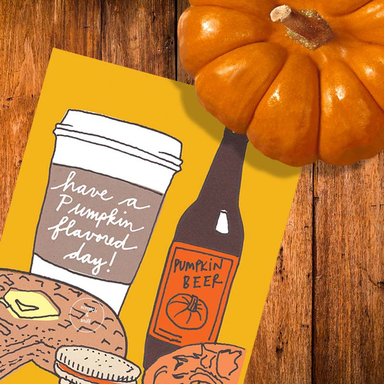 Scratch & Sniff Pumpkin Spice Scented Halloween Card