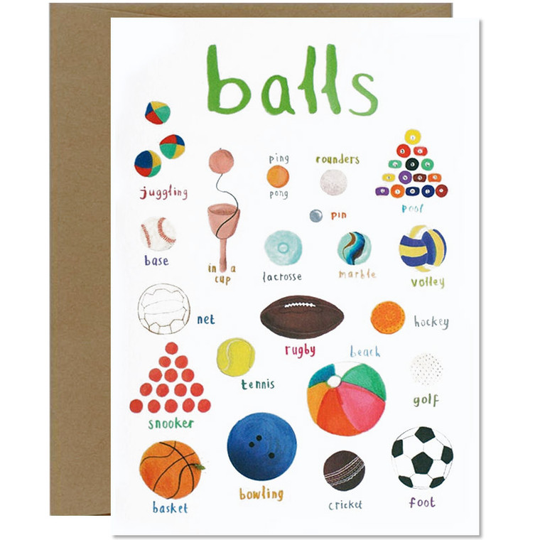 Balls Dirty Pun Greeting Card