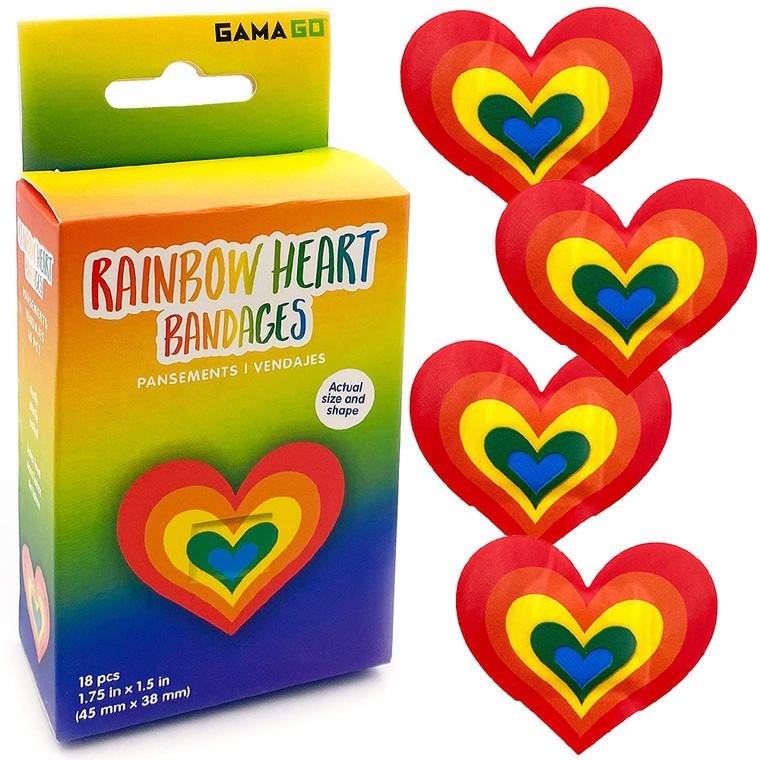 RainboRainbow Heart Bandagesw Heart Bandages