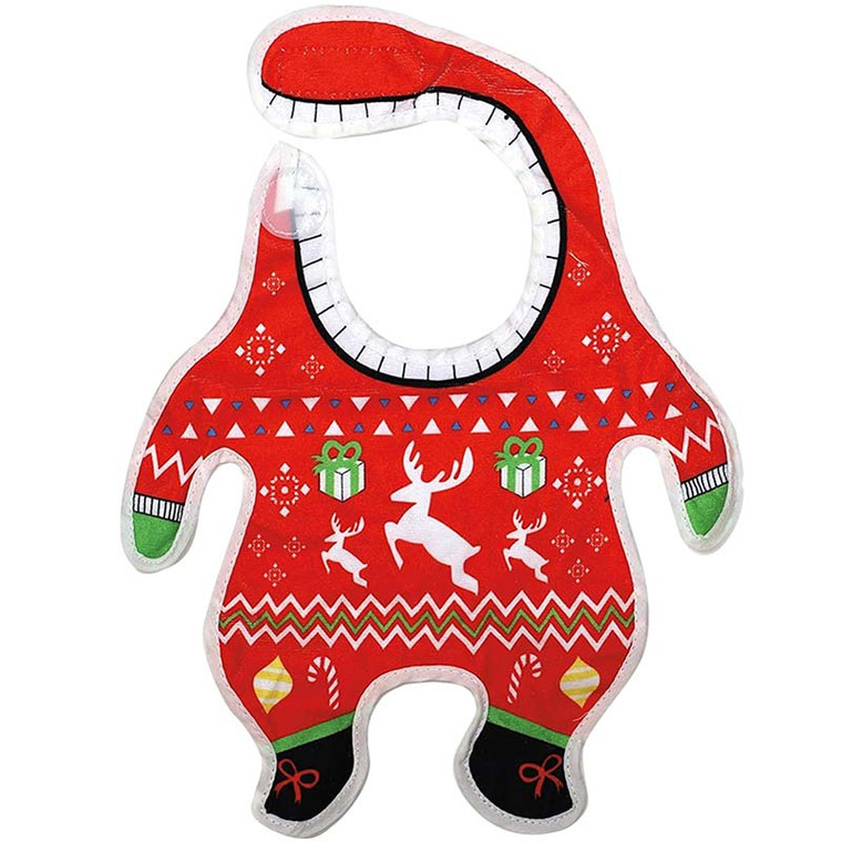 Baby Ugly Christmas Sweater Bib