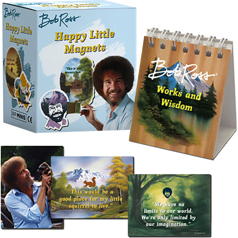 Bob Ross: Happy Little Magnets