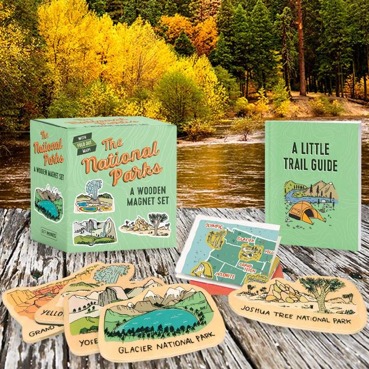 The National Parks: A Wooden Magnet Set