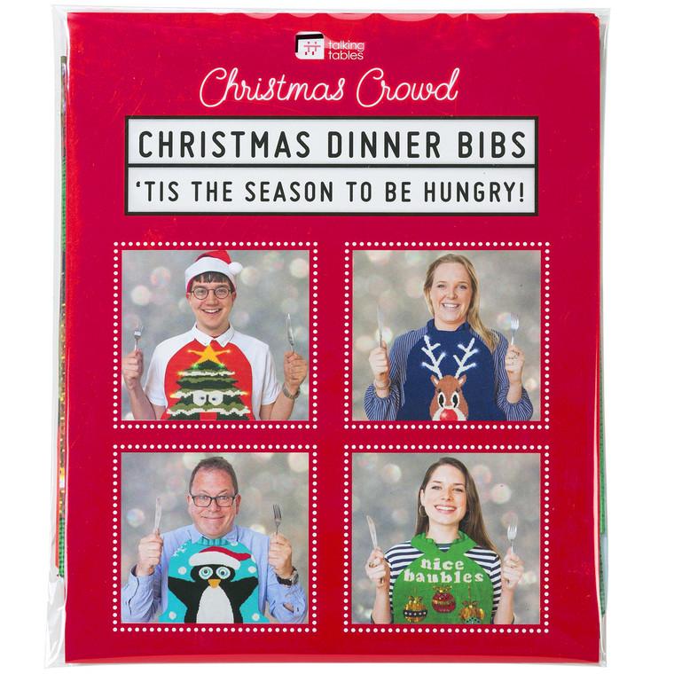 Christmas Sweater Dinner Bibs
