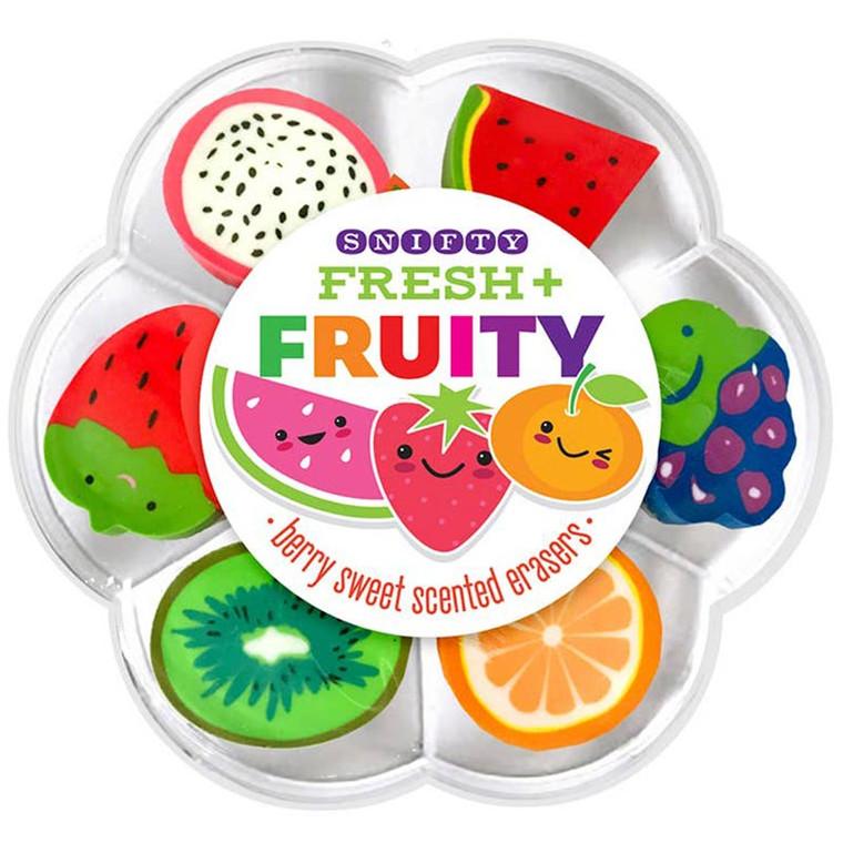 Fresh + Fruity Scented Eraser Set