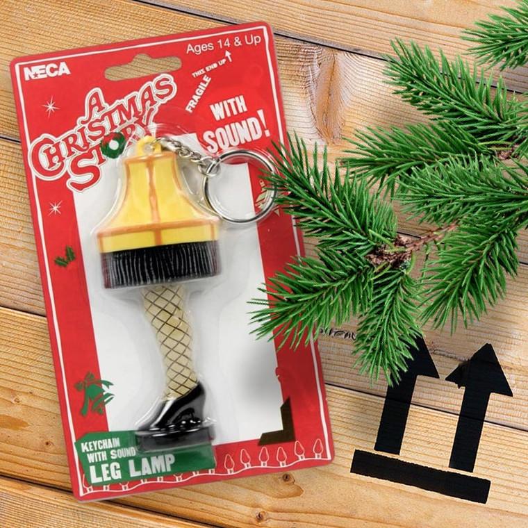 A Christmas Story Leg Lamp Talking Keychain