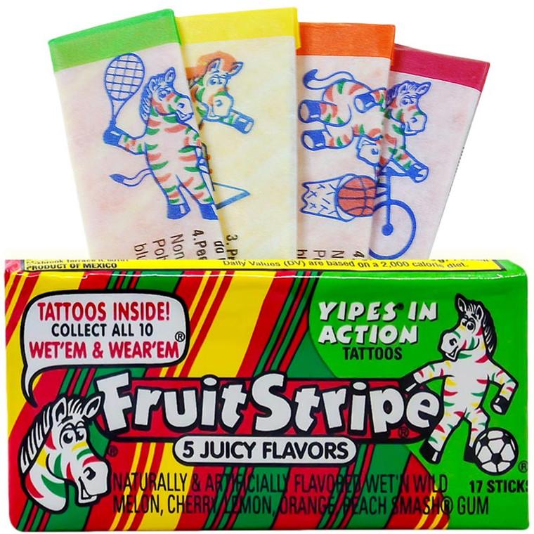 Fruit Stripe Throwback Gum