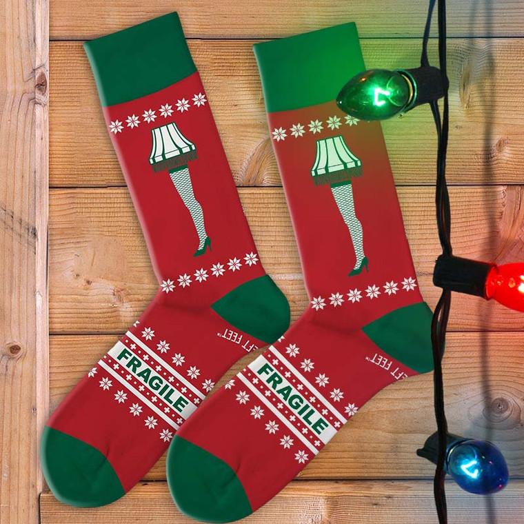 A Christmas Story Leg Lamp Men's Socks