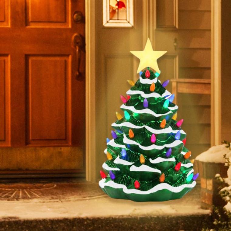 Blow Mold Nostalgic Christmas Tree