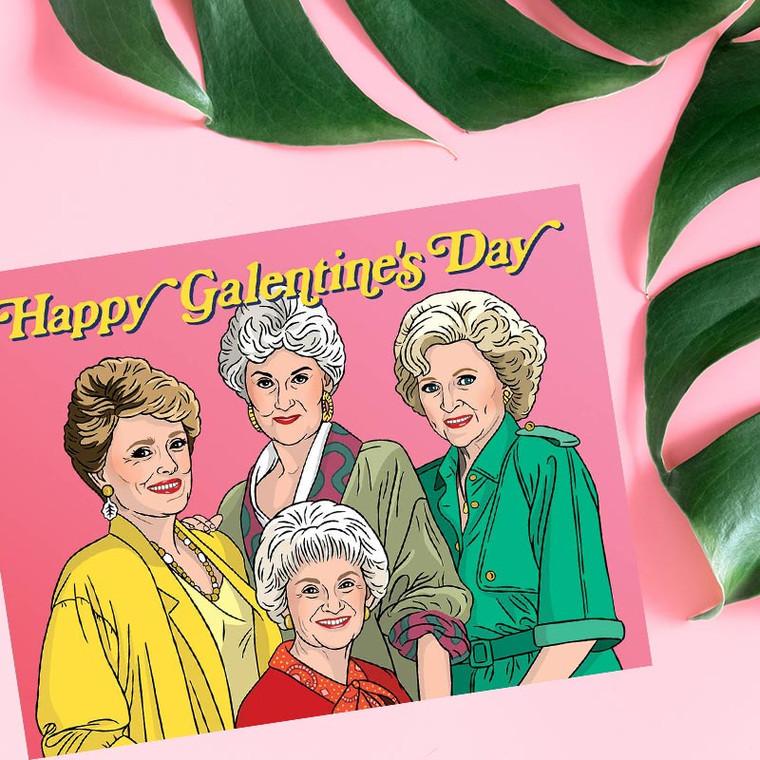 Golden Girls Happy Galentine's Day Card