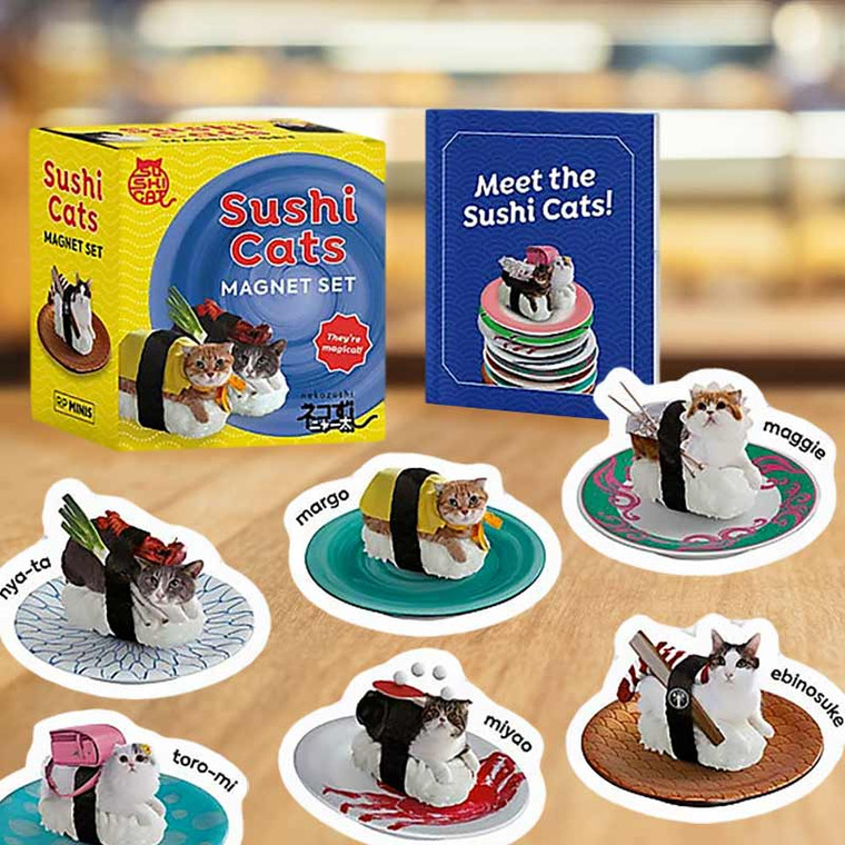 Sushi Cats Magnet Set: They're Magical!