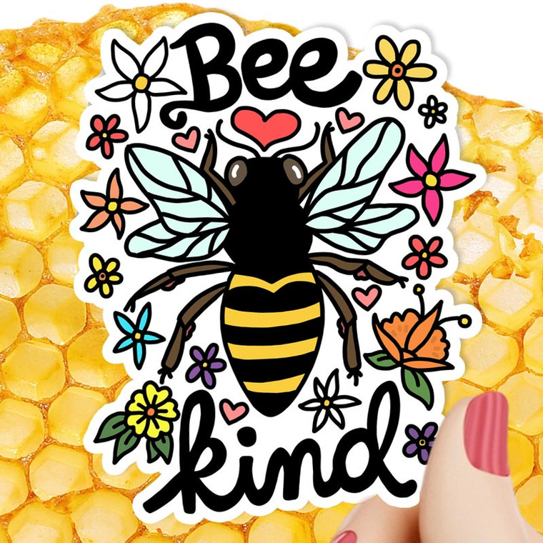 Save the bees! Bee Kind Sticker