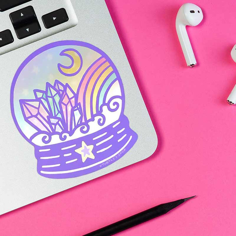 Holographic Crystal Ball Fortune Teller Sticker