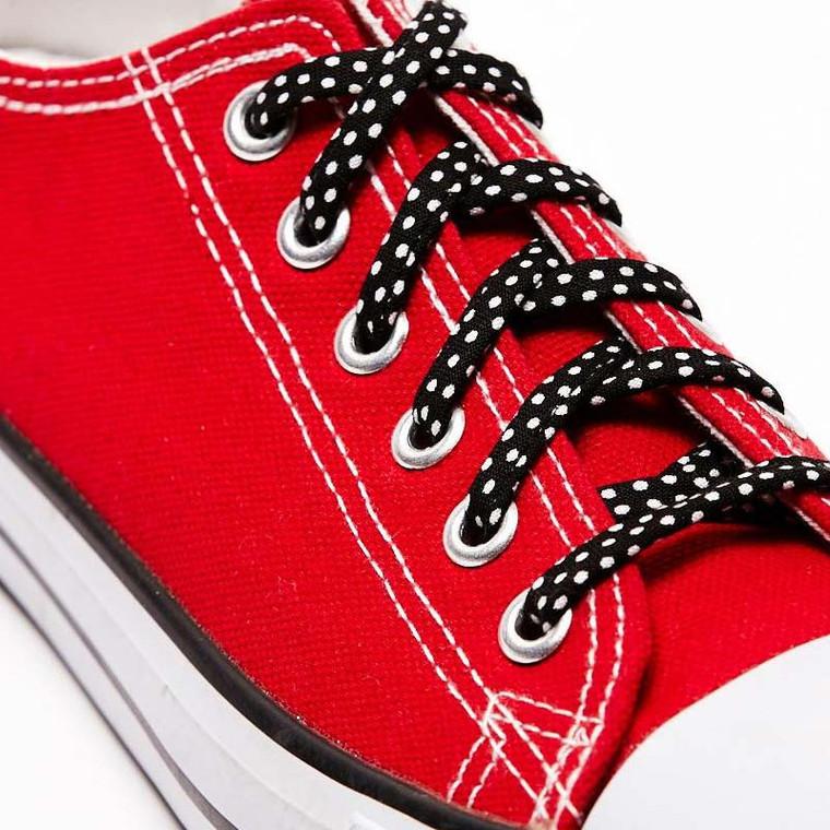 Black & White Polka Dot Shoelaces