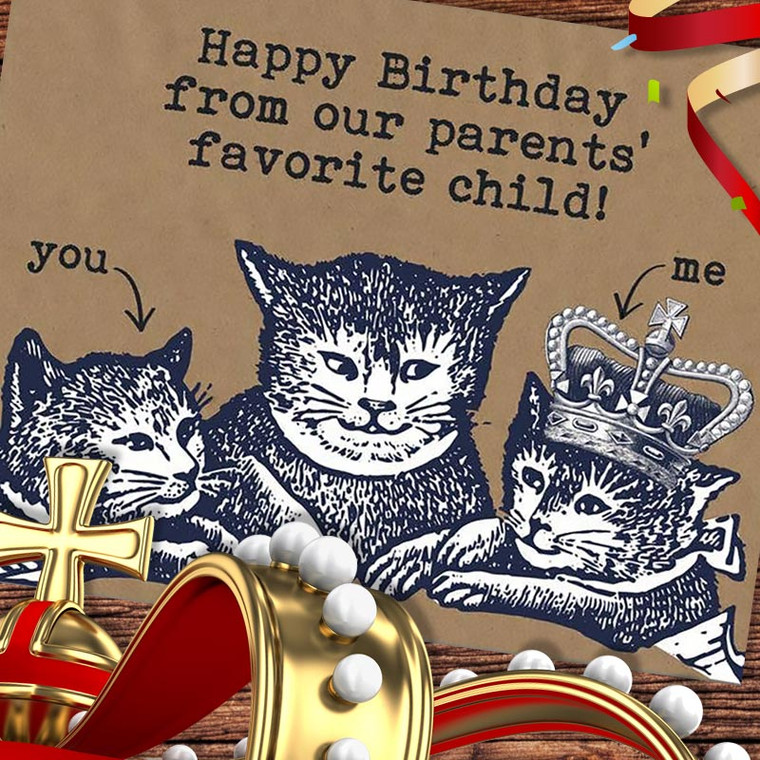 Funny Favorite Kid Birthday Card