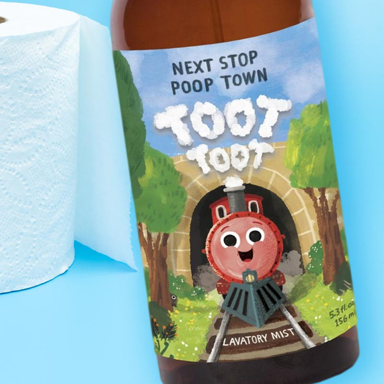 Blue Q - Next Stop Poop Town Lavatory Mist