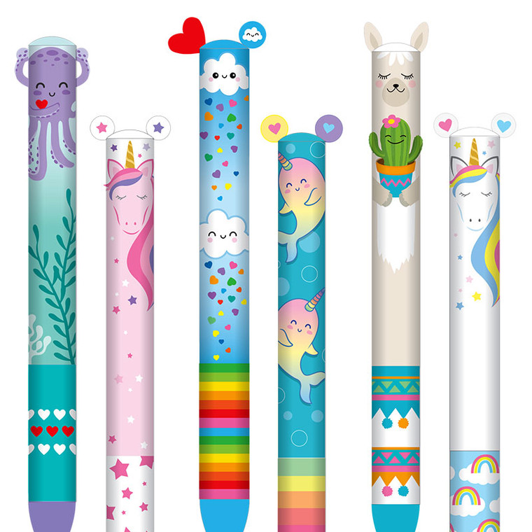 Two Color Clickable Kawaii Pens